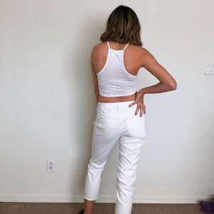 Universal Thread Pants - Universal Thread White Mid Rise Skinny Crop Pants